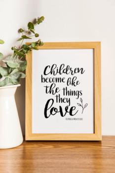 Maria Montessori Quote Print Bundle