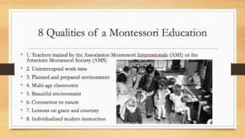 Maria Montessori and Montessori Education