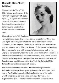 Maria Tallchief Handout