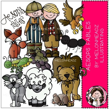 Aesops fables clip art - COMBO PACK - by Melonheadz