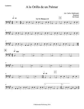 Mariachi: A la Orilla de Un Palmar-Beginner Guitarron