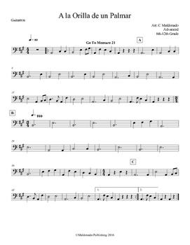 Mariachi: A la Orilla de un Palmar-Advanced Guitarron