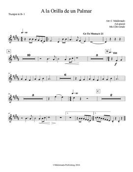 Mariachi: A la Orilla de un Palmar-Advanced Trumpet 1