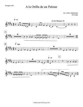 Mariachi: A la Orilla de un Palmar-Easy Trumpet