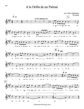 Mariachi: A la Orilla de un Palmar-Easy Voice
