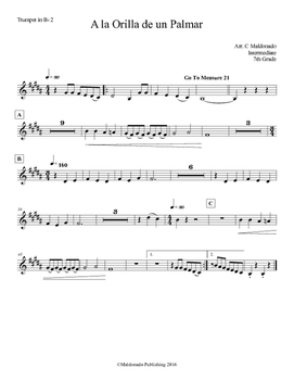 Mariachi: A la Orilla de un Palmar-Intermediate Trumpet II