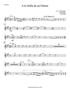 Mariachi: A la Orilla de un Palmar-Intermediate Violin II
