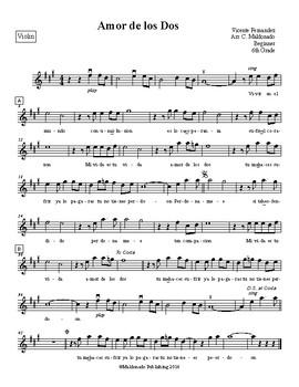 Mariachi: Amor de los Dos-Beginner Violin