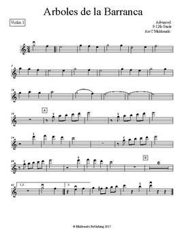 Mariachi: Arboles de la Barranca Advanced Violin 1