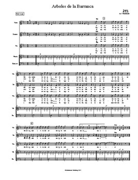 Mariachi: Arboles de la Barranca-Beginner- Score