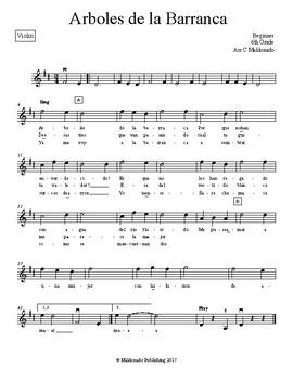 Mariachi: Arboles de la Barranca Beginner Violin