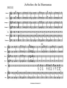 Mariachi: Arboles de la Barranca-Intermediate Score