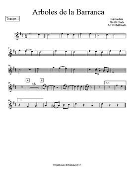 Mariachi: Arboles de la Barranca Intermediate Trumpet 1