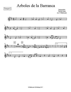 Mariachi: Arboles de la Barranca Intermediate Trumpet 2