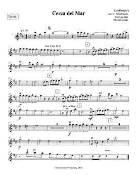 Mariachi: Cerca del Mar-Intermediate Violin 2