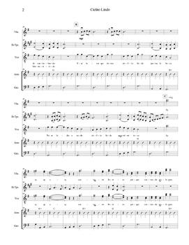 Mariachi: Cielito Lindo-Easy Score