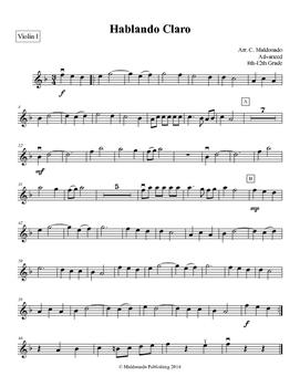 Mariachi: Hablando Claro-Advanced Violin I