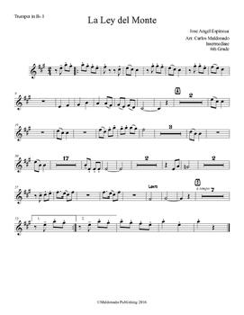 Mariachi: La Ley del Monte-Intermediate Trumpet I