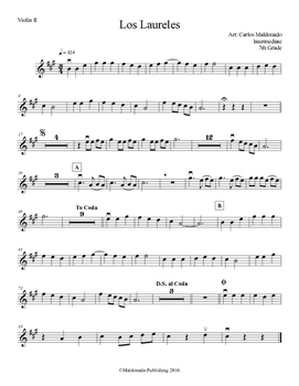 Mariachi: Los Laureles-Intermediate Violin II