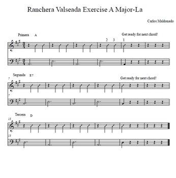 Mariachi: Ranchera Valseada Preparation-Primera, Segunda, y Tercera
