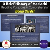 Mariachi SPANISH Reading Comprehension Boom Cards for Dist