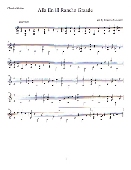 Mariachi Songs for Solo Classical Guitar