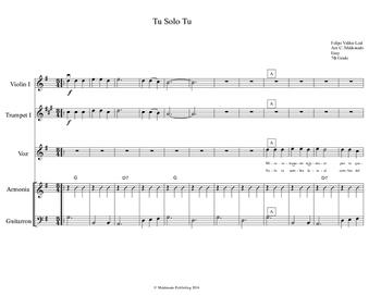 Mariachi: Tu Solo Tu-Easy Score