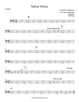Mariachi: Volver Volver-Beginner Guitarron