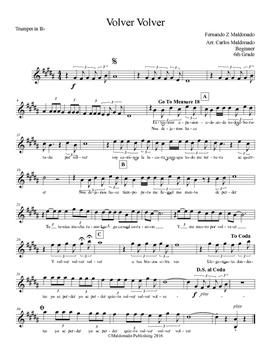Mariachi: Volver Volver-Beginner Trumpet