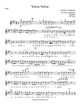 Mariachi: Volver Volver-Beginner Violin