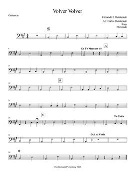 Mariachi: Volver Volver-Easy Guitarron