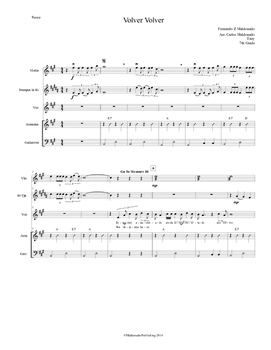 Mariachi: Volver Volver-Easy Score