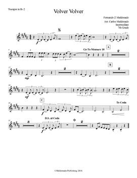 Mariachi: Volver Volver-Intermediate Trumpet II