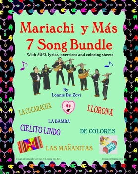 Mariachi y Más 7 Song BUNDLE With MP3s and Worksheets