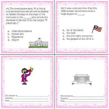 Marian Anderson Biography Passages and Comprehension Questions No Prep