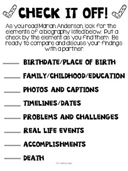 Marian Anderson Literacy Activities for Louisiana K-2 Guidebook