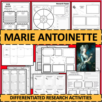 Marie Antoinette Biographical Biography Research Activities DIFFERENTIATED!