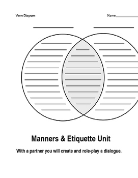 Marie Antoinette Dialogue ESL Fun Differences Venn Diagram