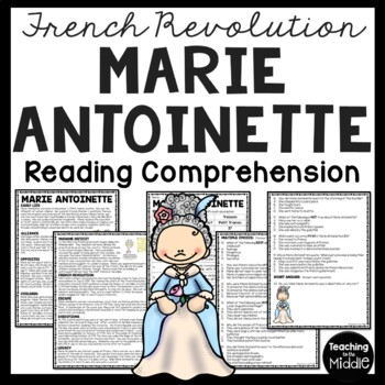 Marie Antoinette, French Revolution, History, Article & Questions