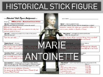 Marie Antoinette Historical Stick Figure (Mini-biography)