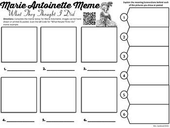 Marie Antoinette Meme Activity