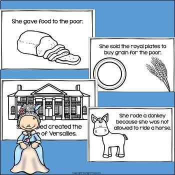 Marie Antoinette Mini Book for Early Readers: Women's History Month