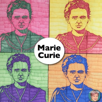 Marie Curie Collaboration Portrait Poster - Great Women's History Month Activity