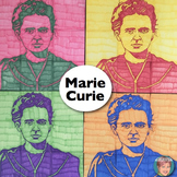 Marie Curie Collaboration Portrait Poster - Great Women's