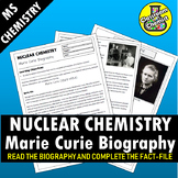 Nuclear Chemistry Marie Curie Biography Activity