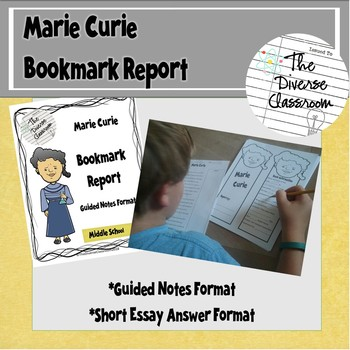 Marie Curie Bookmark Report