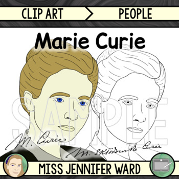 Marie Curie Clipart