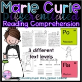 Marie Curie Differentiated Reading Comprehension and Graph