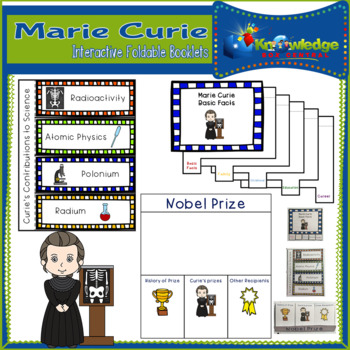 Marie Curie Interactive Foldable Booklets