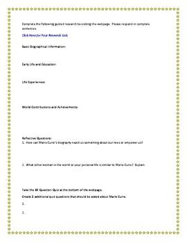 Marie Curie Internet Research Guide
